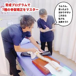 育成プログラムで7種の骨格矯正をマスター
